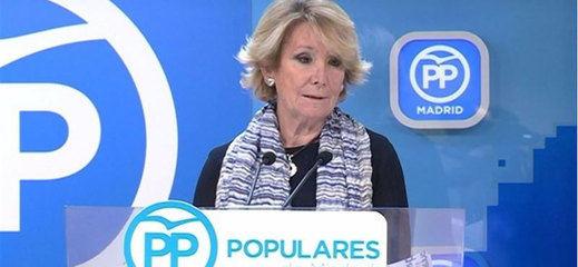 Esperanza Aguirre dimite al frente del PP de Madrid y deja en evidencia a Rajoy y Barberá