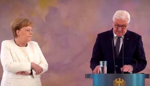 La canciller, Angela Merkel, junto al presidente alemán, Frank-Walter Steinmeier