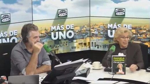 La ventosidad más comentada en plena entrevista en directo a Manuela Carmena