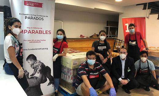 Mercadona dona a la 'Fundación Altius-1 Kilo de Ayuda' 3,1 toneladas de alimentos de primera necesidad