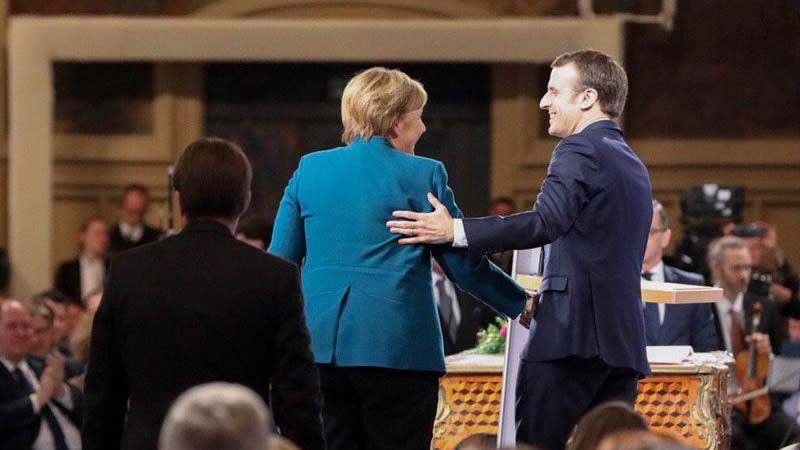 Unos debilitados Merkel y Macron se conjuran contra la ultraderecha y los nacionalismos en Europea