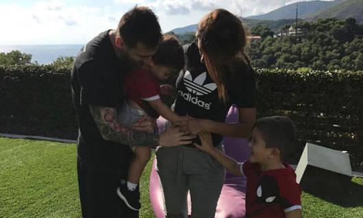Messi espera a su tercer hijo con Antonella Rocuzzo