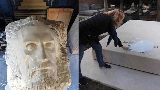 Así se atacaron las tumbas de Pablo Iglesias y la Pasionaria y el monumento a las 13 Rosas