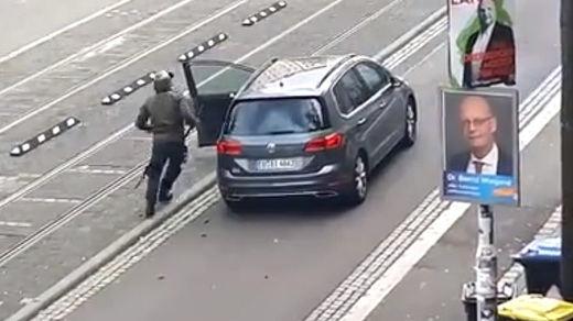 Alemania, escandalizada por el atentado antisemita en una sinagoga, con 2 víctimas mortales