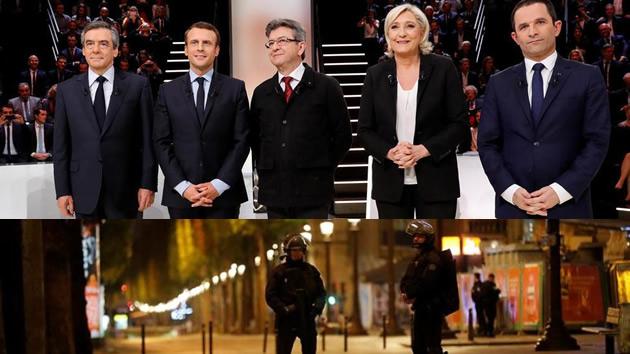 El atentado de París acaba con el cierre de campaña e interrumpió en directo el último debate entre los candidatos