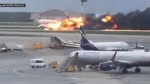 Al menos 41 muertos en el accidente del avión de Moscú
