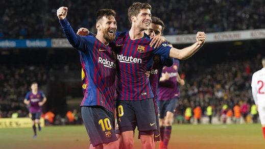 El Barça pasa a semifinales de Copa tras una remontada abrumadora ante el Sevilla (6-1)