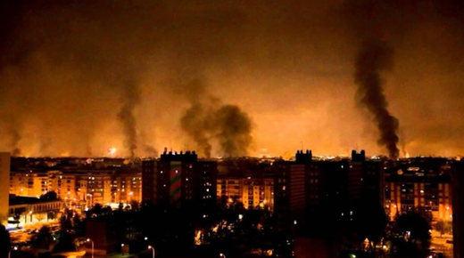 Las imágenes más impactantes de una Barcelona en llamas tras una tercera jornada de disturbios