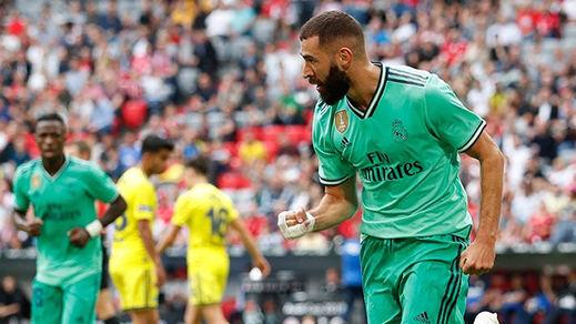 El Madrid resucita a duras penas con goles de Benzema y ante un rival asequible (5-3)
