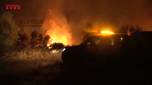 El incendio en Ribera d'Ebre podría llegar a las 20.000 hectáreas