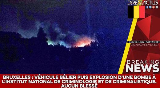 Atentado en Bruselas: explota una bomba en el Instituto Nacional de Criminología sin dejar víctimas