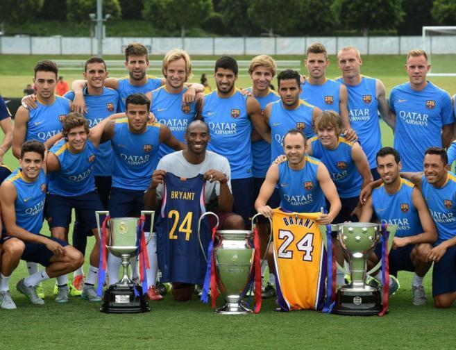 El Barça da el golpe mediático 'fichando' al mítico Kobe Bryant, que adora a 'Messi, Iniesta y todos'