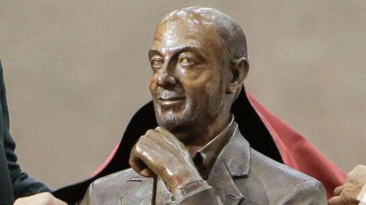 El busto de Rubalcaba descubierto en el Congreso del PSOE