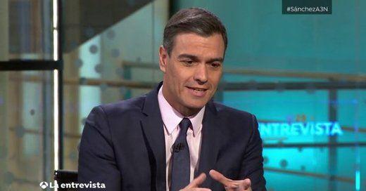 Sánchez se solidariza con los boicots a los partidos de derechas y se compromete a aplicar el 155 si es necesario en Cataluña