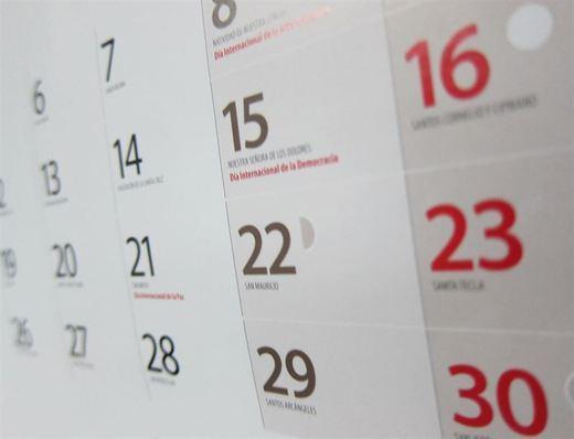 El calendario laboral para 2016 tendrá ocho fiestas nacionales