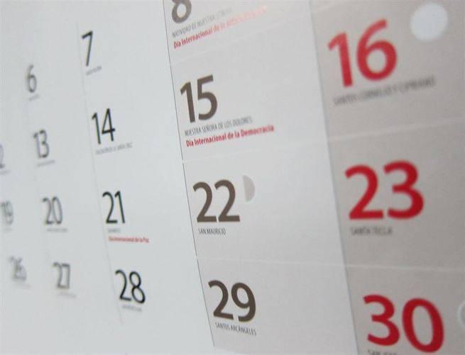 El calendario laboral para 2016 tendrá ocho fiestas nacionales ...