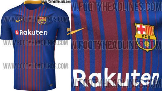 Filtran la camiseta del Barça para la próxima temporada 2017/2018
