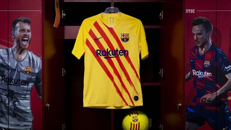El Barça se pone la senyera en su nueva camiseta, la cuarta para esta temporada