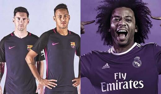 Real Madrid y Barça se ponen morados: ambos coinciden en su segunda equipación