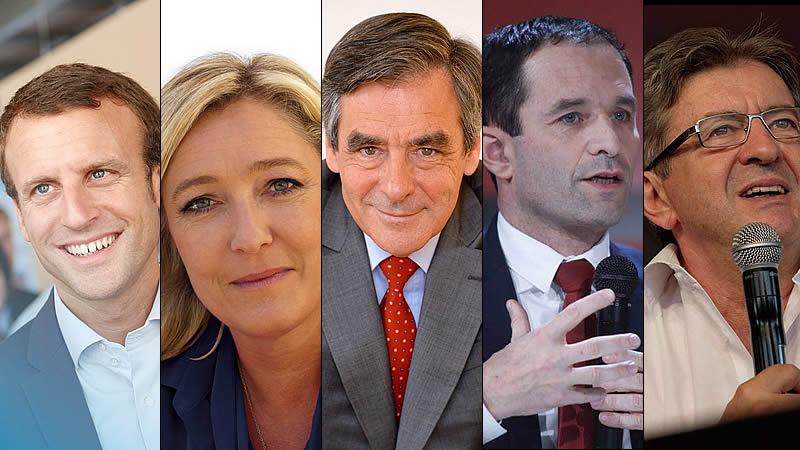 Elecciones presidenciales de Francia 2017: así son los 5 principales candidatos