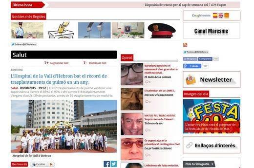 El Grupo GN y el buscador Més Barcelona estrenan el portal Barcelona Notícies
