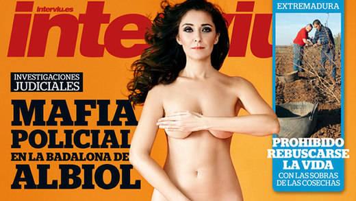 La concejal más polémica de Ciudadanos, Carmen López, se desnuda en la portada de 'Interviú': la nueva Olvido Hormigos