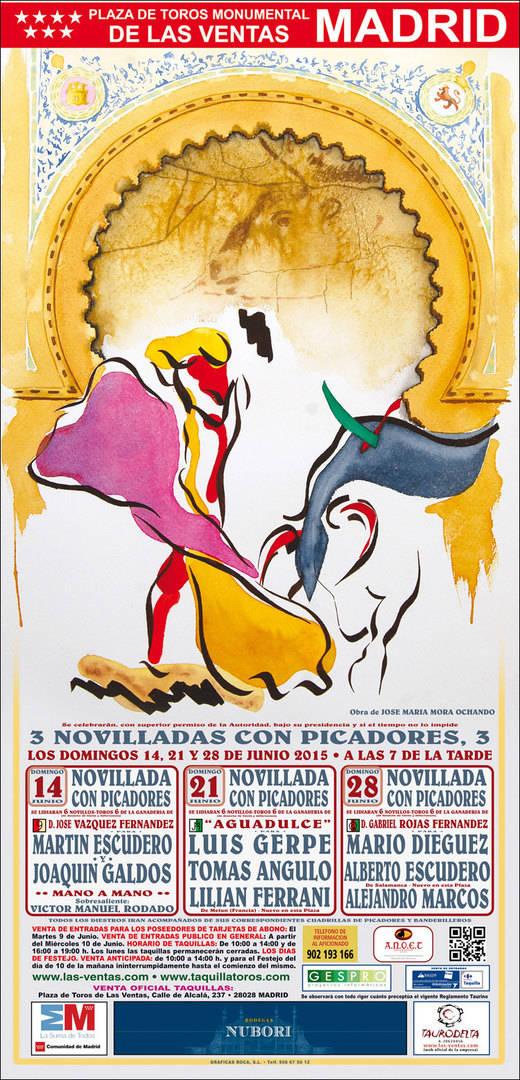 Las Ventas: un atractivo mano a mano Escudero-Galdós inicia un mes de novilleros punteros
