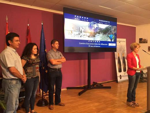 Reconocimiento de la Diputación al Centro Excursionista de Albacete por sus 37 años