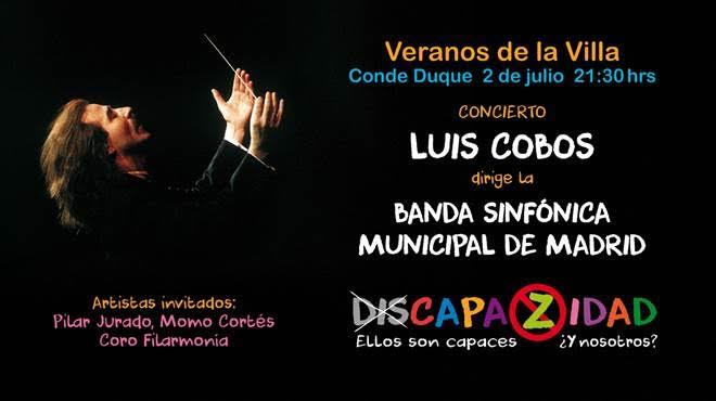 Otro 'conciertazo': el de Luis Cobos y la Banda Sinfónica de Madrid, a favor de los discapacitados