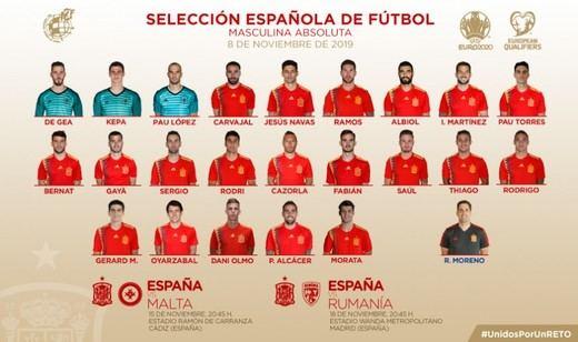 Moreno se lleva a Dani Olmo pero Ansu Fati tendrá que esperar para La Roja