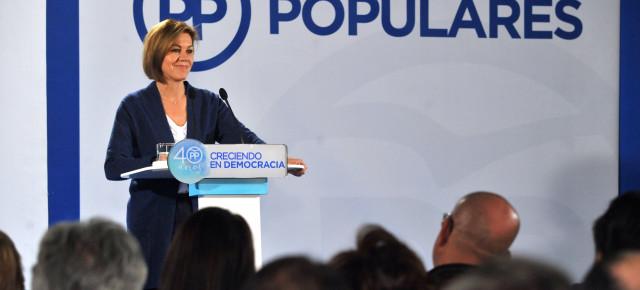 Cospedal: 'El PP tiene un proyecto de país y cree en una España moderna y democrática'