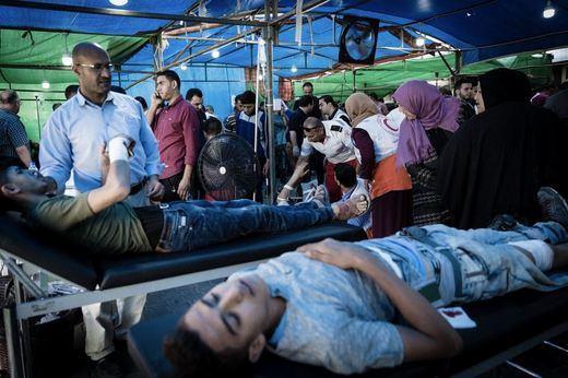 Masacre en Gaza: al menos 41 palestinos muertos y 1.700 heridos a manos del ejército israelí