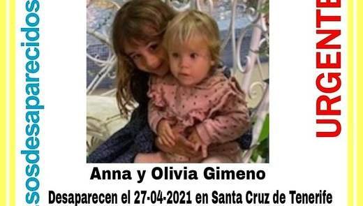 Aparece muerta Olivia, una de las 2 niñas desaparecidas en Canarias que raptó su padre