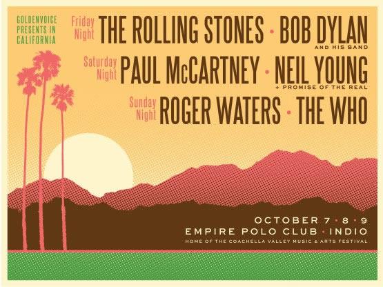 'Desert Trip', el gran festival de clásicos del rock: Rolling Stones, Paul McCartney, Roger Waters, The Who, Bob Dylan y Neil Young