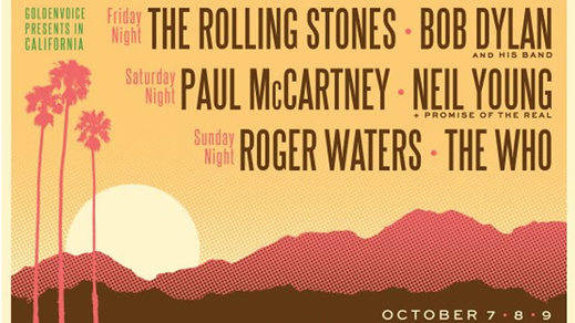 'Desert Trip', el gran festival de clásicos del rock: Rolling Stones, McCartney, The Who, Bob Dylan...