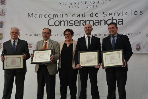 XL Aniversario: Comsermancha rinde homenaje a los alcaldes y concejales de sus once corporaciones