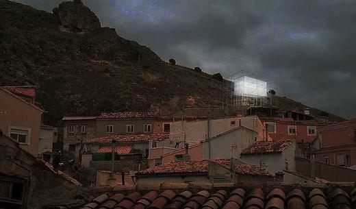 Arranca en el barrio de San Antón de Cuenca el montaje del proyecto del arquitecto Maximiliam Nowotka