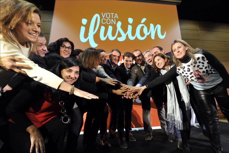 Rivera con los candidatos de Ciudadanos en Castilla-La Mancha