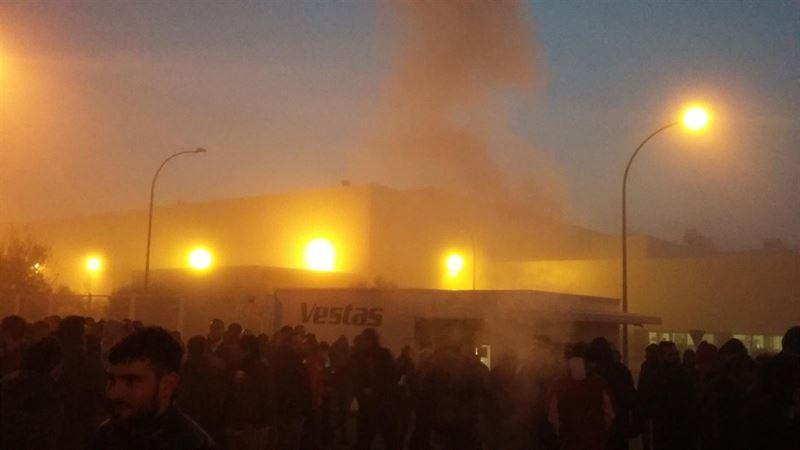 Seguimiento 'unánime' en la primera jornada de huelga en la planta de Vestas en Daimiel (Ciudad Real)