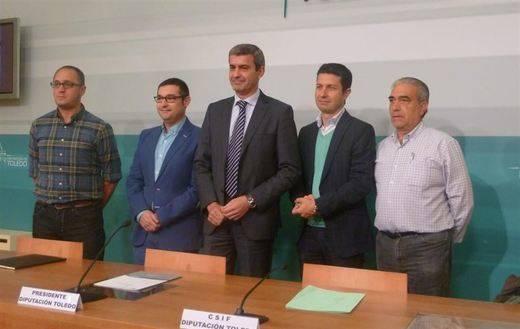 El acuerdo Diputación de Toledo y sindicatos contempla reducción de jornada y aumento salarial del 1%