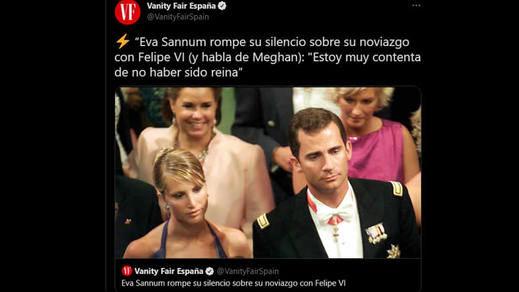 Eva Sannum habla a los medios 20 años después de romper con Felipe VI