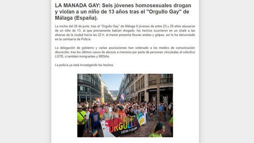 Los bulos homófobos contra el Orgullo: violaciones de gays a niños