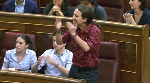 El vergonzoso último Pleno que acabó a gritos entre Hernando (PP) y Pablo Iglesias