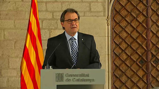 Artur Mas, erigido en mártir de Cataluña: