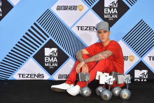 Justin Bieber, el rey de los premios MTV también en Europa