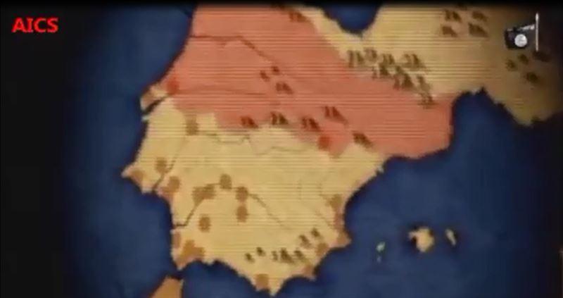 Estado Islámico ya hace alusiones a España en un nuevo vídeo donde aparece nuestro mapa