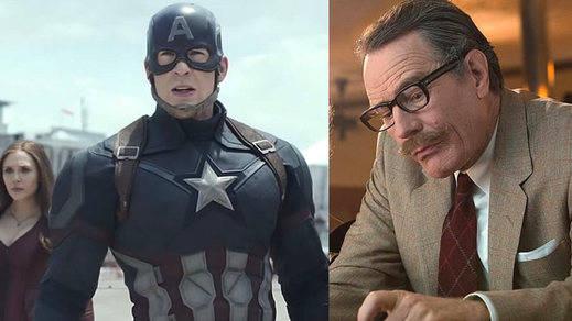 El Capitán América toma la cartelera con permiso de Bryan Cranston, que al fin se desliga de 'Breaking Bad'
