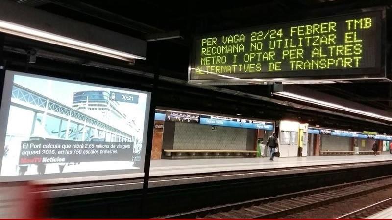 La huelga de Metro de Barcelona empaña el éxito del 'Mobile World Congress'