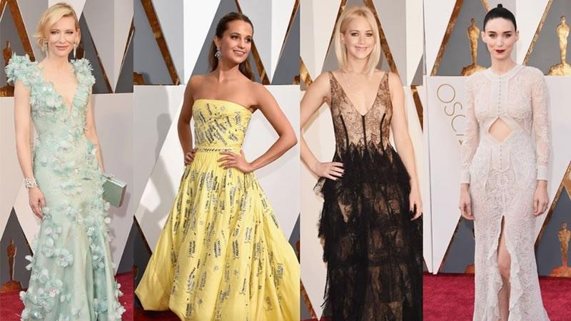 Jennifer Lawrence reina en la alfombra roja de los Oscar 2016