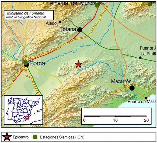 Terremoto de 3,2 grados en Totana (Murcia)